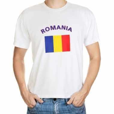 Wit t shirt roemenie heren