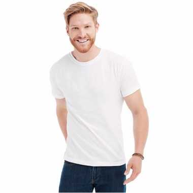 Wit t shirt ronde hals