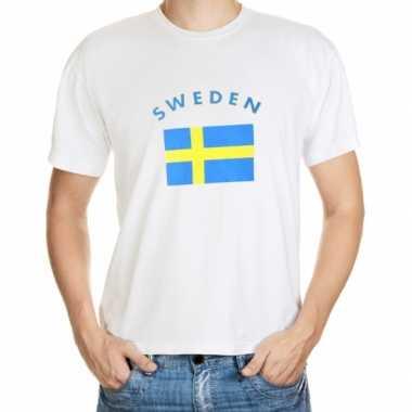 Wit t shirt zweden heren