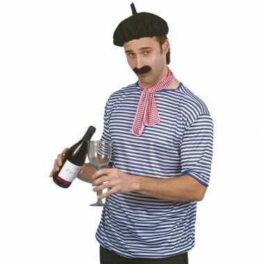 X stuks fransman verkleed kostuum shirt/set volwassenenen