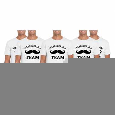 X vrijgezellenfeest team t shirt wit heren maat l