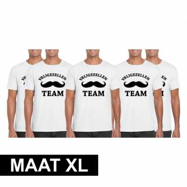 X vrijgezellenfeest team t shirt wit heren maat xl