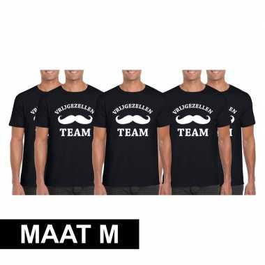 X vrijgezellenfeest team t-shirt zwart heren maat m