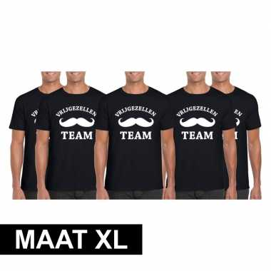 X vrijgezellenfeest team t shirt zwart heren maat xl