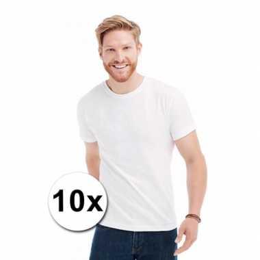 X witte t-shirts ronde hals 10023349