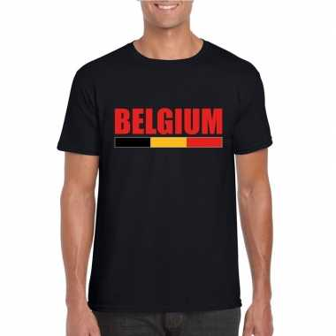 Zwart belgium supporter shirt heren