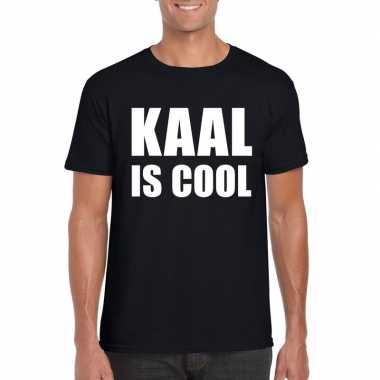 Zwart kaal is cool shirt heren