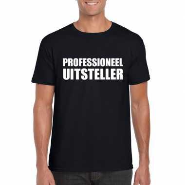 Zwart professioneel uitsteller shirt heren