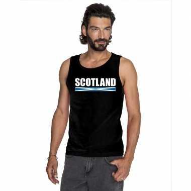 Zwart schotland supporter singlet shirt/ tanktop heren
