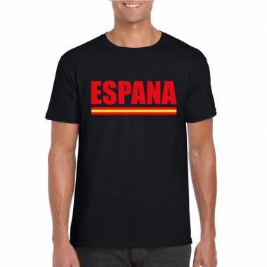 Zwart spanje supporter shirt heren