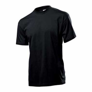 Zwart t shirt ronde hals