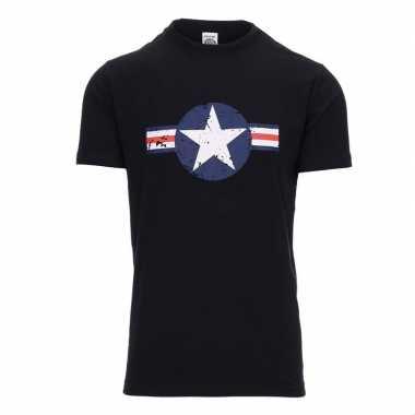 Zwart t shirt united states air force