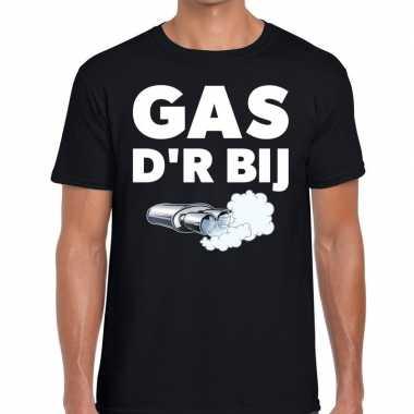 Zwarte cross gas der bij festival t shirt zwart heren