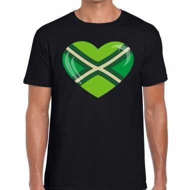 Zwarte cross i love achterhoek festival t shirt zwart heren