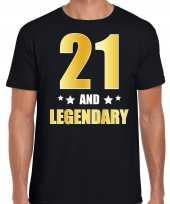 And legendary verjaardag cadeau t-shirt goud jaar zwart heren 10232731