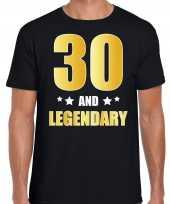 And legendary verjaardag cadeau t-shirt goud jaar zwart heren 10232740