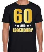 And legendary verjaardag cadeau t-shirt goud jaar zwart heren 10232770