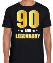 And legendary verjaardag cadeau t-shirt goud jaar zwart heren 10232800