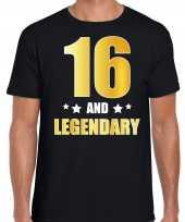 And legendary verjaardag cadeau t-shirt goud jaar zwart heren