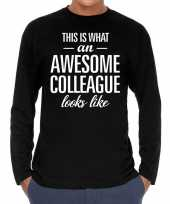 Awesome colleague collega cadeau t-shirt long sleeves heren