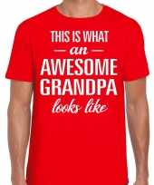 Awesome grandpa opa cadeau t-shirt rood heren vaderdag