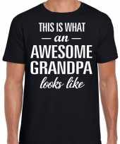 Awesome grandpa opa cadeau t-shirt zwart heren vaderdag