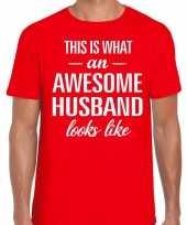 Awesome husband echtgenoot cadeau t-shirt rood heren