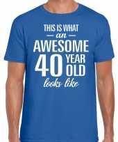 Awesome year jaar cadeau t-shirt blauw heren 10200012