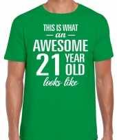 Awesome year jaar cadeau t-shirt groen heren 10199971