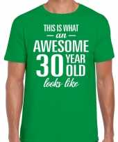 Awesome year jaar cadeau t-shirt groen heren 10199998