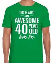 Awesome year jaar cadeau t-shirt groen heren 10200014