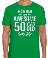 Awesome year jaar cadeau t-shirt groen heren 10200024