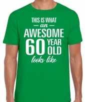 Awesome year jaar cadeau t-shirt groen heren 10200038