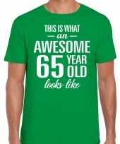 Awesome year jaar cadeau t-shirt groen heren 10200050