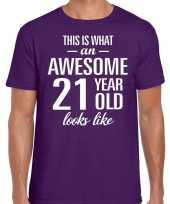 Awesome year jaar cadeau t-shirt paars heren 10199974
