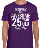 Awesome year jaar cadeau t-shirt paars heren 10199986