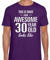 Awesome year jaar cadeau t-shirt paars heren 10199999