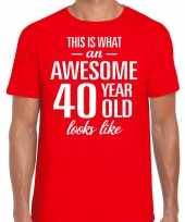 Awesome year jaar cadeau t-shirt rood heren 10200016