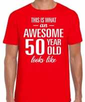 Awesome year jaar cadeau t-shirt rood heren 10200028