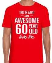 Awesome year jaar cadeau t-shirt rood heren 10200042
