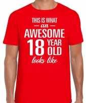 Awesome year jaar cadeau t-shirt rood heren