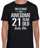 Awesome year jaar cadeau t-shirt zwart heren 10193520