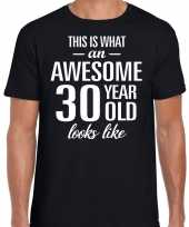 Awesome year jaar cadeau t-shirt zwart heren 10193522