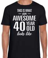 Awesome year jaar cadeau t-shirt zwart heren 10193523
