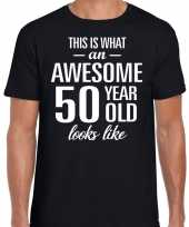 Awesome year jaar cadeau t-shirt zwart heren 10193524