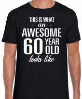 Awesome year jaar cadeau t-shirt zwart heren 10193525