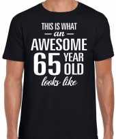 Awesome year jaar cadeau t-shirt zwart heren 10193526