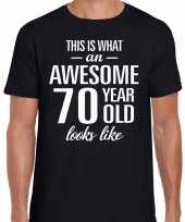 Awesome year jaar cadeau t-shirt zwart heren 10193527