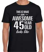 Awesome year jaar cadeau t-shirt zwart heren 10205313