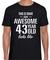 Awesome year jaar cadeau t-shirt zwart heren 10205317